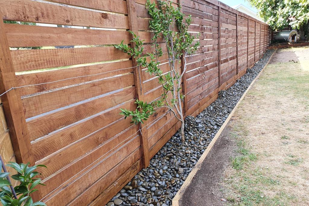 Fence and landscape preparation